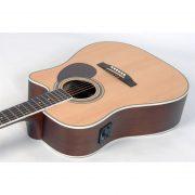 Freshman Apollo 1DC Electro Acoustic 6 String Dreadnought Cutaway Guitar 4