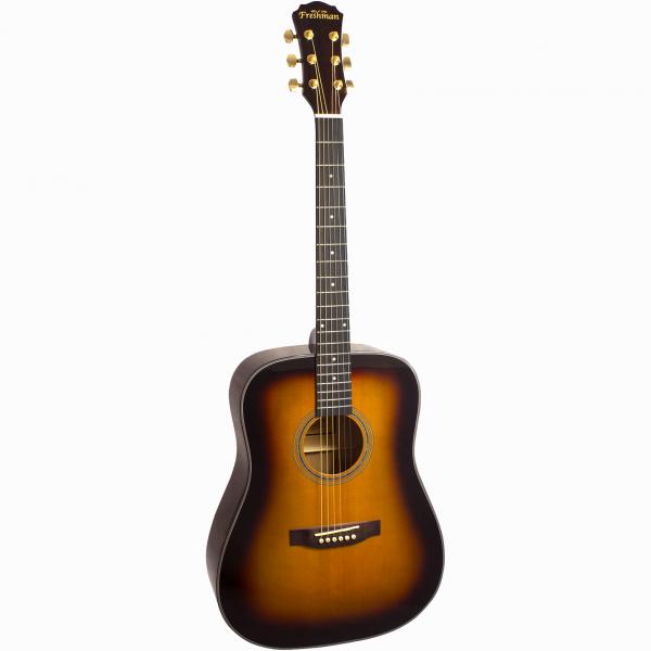 Freshman Maple Ridge FA1DSBS Acoustic 6 String Dreadnought Guitar