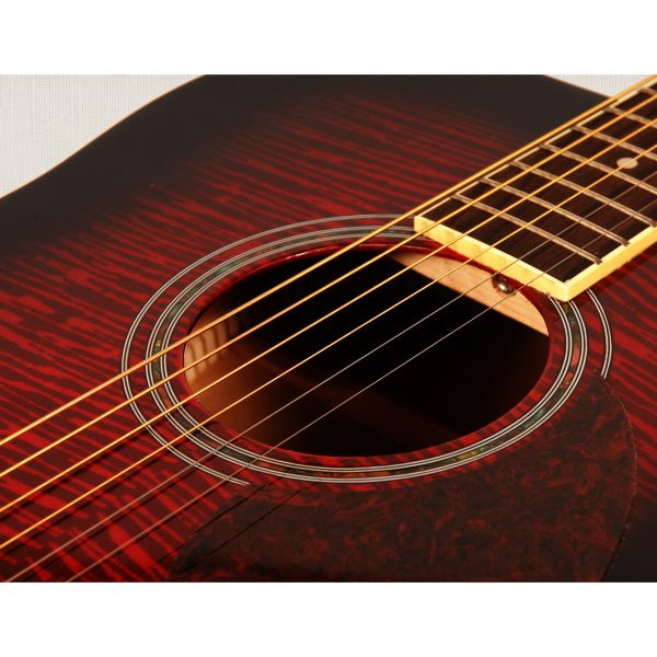 Freshman Renegade RENDWR Acoustic 6 String Dreadnought Guitar