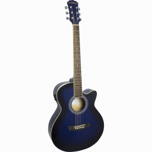 Freshman Renegade RENOCBL Electro Acoustic 6 String Folk Cutaway Guitar
