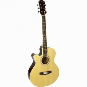 Freshman Renegade RENOCNATLH Left Hand Electro Acoustic 6 String Folk Cutaway Guitar
