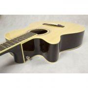 Freshman Renegade RENOCNATLH Left Hand Electro Acoustic 6 String Folk Cutaway Guitar 3