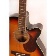 Freshman Renegade RENOCSB Electro Acoustic 6 String Folk Cutaway Guitar 4