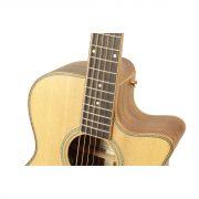 Freshman Songwriter SONGOC Electro Acoustic 6 String Orchestra Body Cut Away Guitar 5