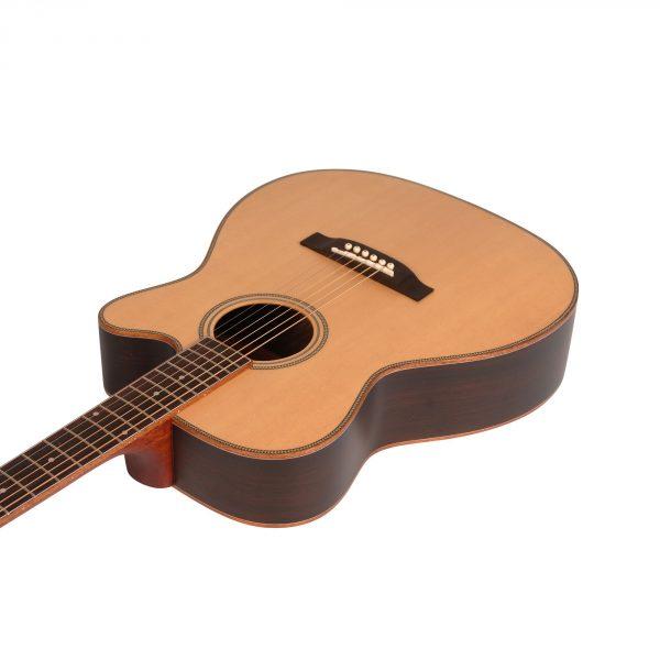 Freshman Songwriter SONGOCRW Electro Acoustic 6 String Orchestra Body Guitar
