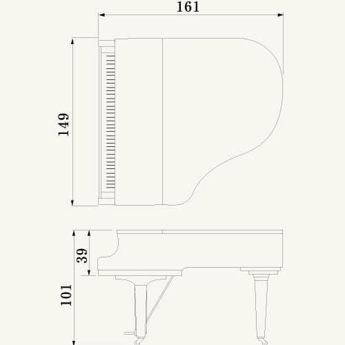 Yamaha C1X SH Black Polyester Silent Baby Grand Piano