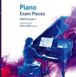 ABRSM Piano Exam Pieces: 2017-2018 (Grade 3) - Book Only