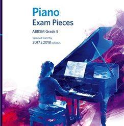 ABRSM Piano Exam Pieces: 2017-2018 (Grade 5) - Book Only