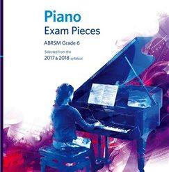 ABRSM Piano Exam Pieces: 2017-2018 (Grade 6) - Book Only