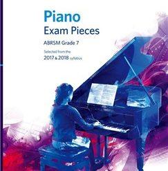 ABRSM Piano Exam Pieces: 2017-2018 (Grade 7) - Book Only