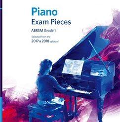 ABRSM Piano Exam Pieces: 2017-2018 (Grade 1) - Book And CD