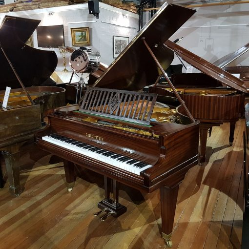 Used Bechstein Model L baby grand piano in a mahogany case for sale.