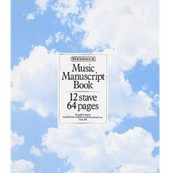 Woodstock Music Manuscript Paper: 12 Stave - 64 pages (A4 Spiral)