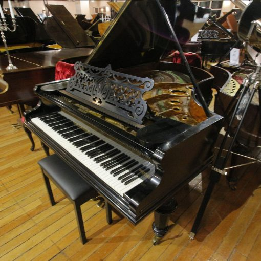 Bechstein Model 5 boudoir grand piano in a black case