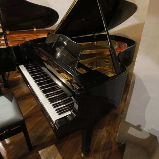 Yamaha C3 Baby Grand Piano in a black polyester case