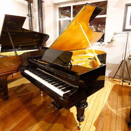 Bosendorfer 225 boudoir grand piano, in a black case, for sale
