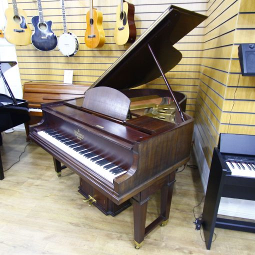 Steinway Model O Duo Art boudoir grand piano in a mahogany case, for sale.