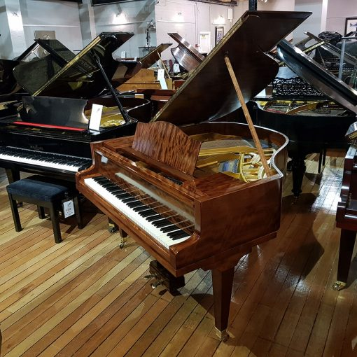 Used Bluthner Style 4 baby grand piano, in a mahogany case, for sale.