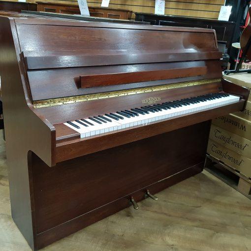 Hopkinson upright piano, in a mahogany case, for sale.
