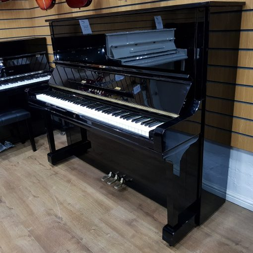 Yamaha U3 upright piano, in a black polyester case, for sale.