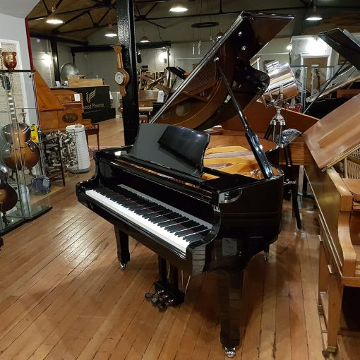 New Steinhoven GP148 baby grand piano, in a black polyester case for sale.