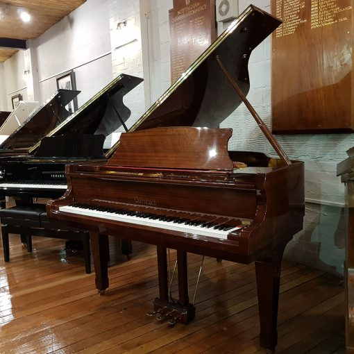 Used Offenbach DG-1 baby grand piano, in a polyester case for sale.