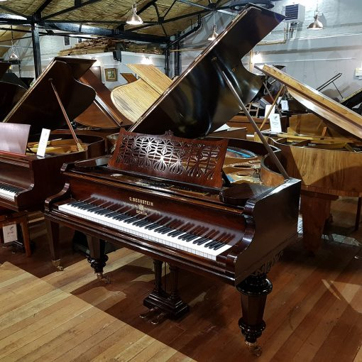 Restored Bechstein Model V boudoir grand piano, in a rosewood case.