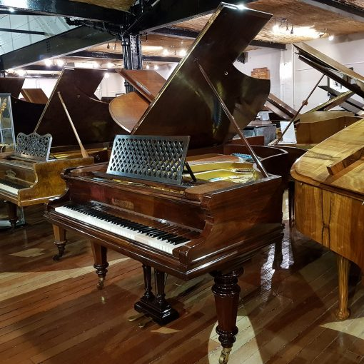 Used Bechstein Model V boudoir grand piano, in a rosewood case, for sale.