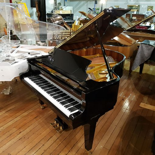 Used Schimmel 174T baby grand piano, in a polyester black case, for sale