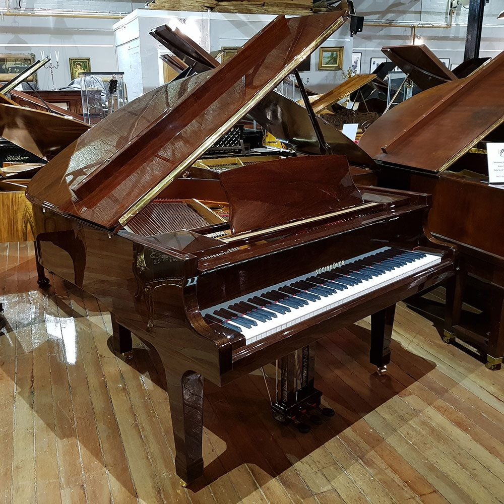 Steinhoven GP160 baby grand piano, in a walnut polyester case for sale