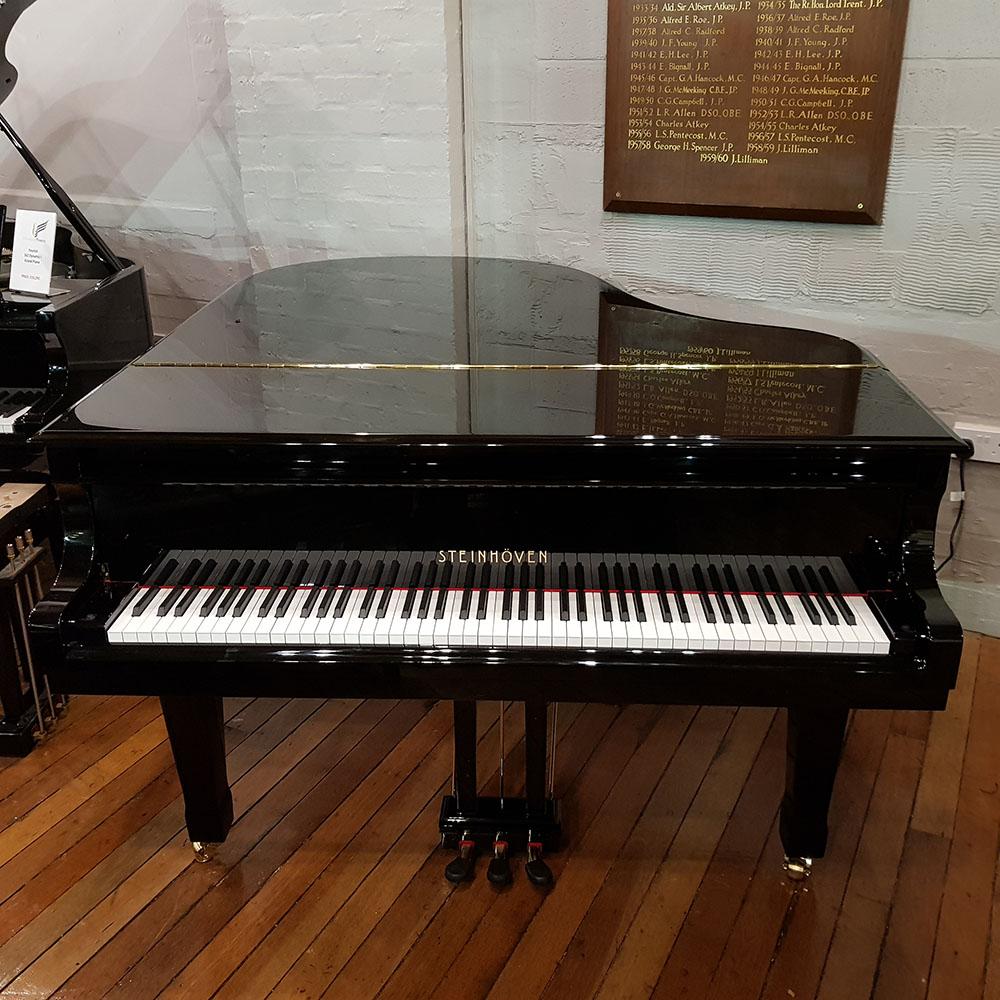 New Steinhoven GP170 Baby Grand Piano Black