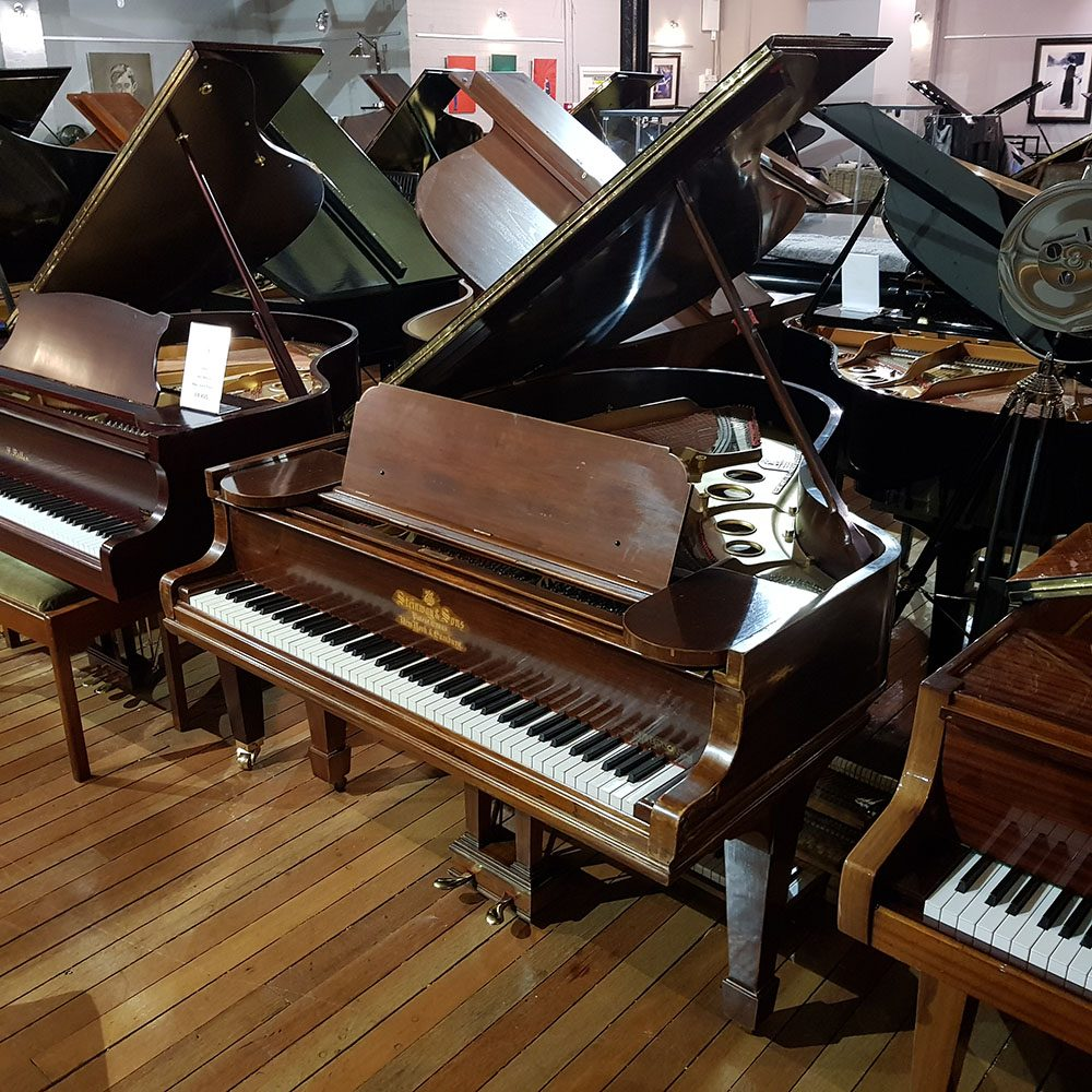 Steinway Model O grand piano, in a rosewood case for sale.