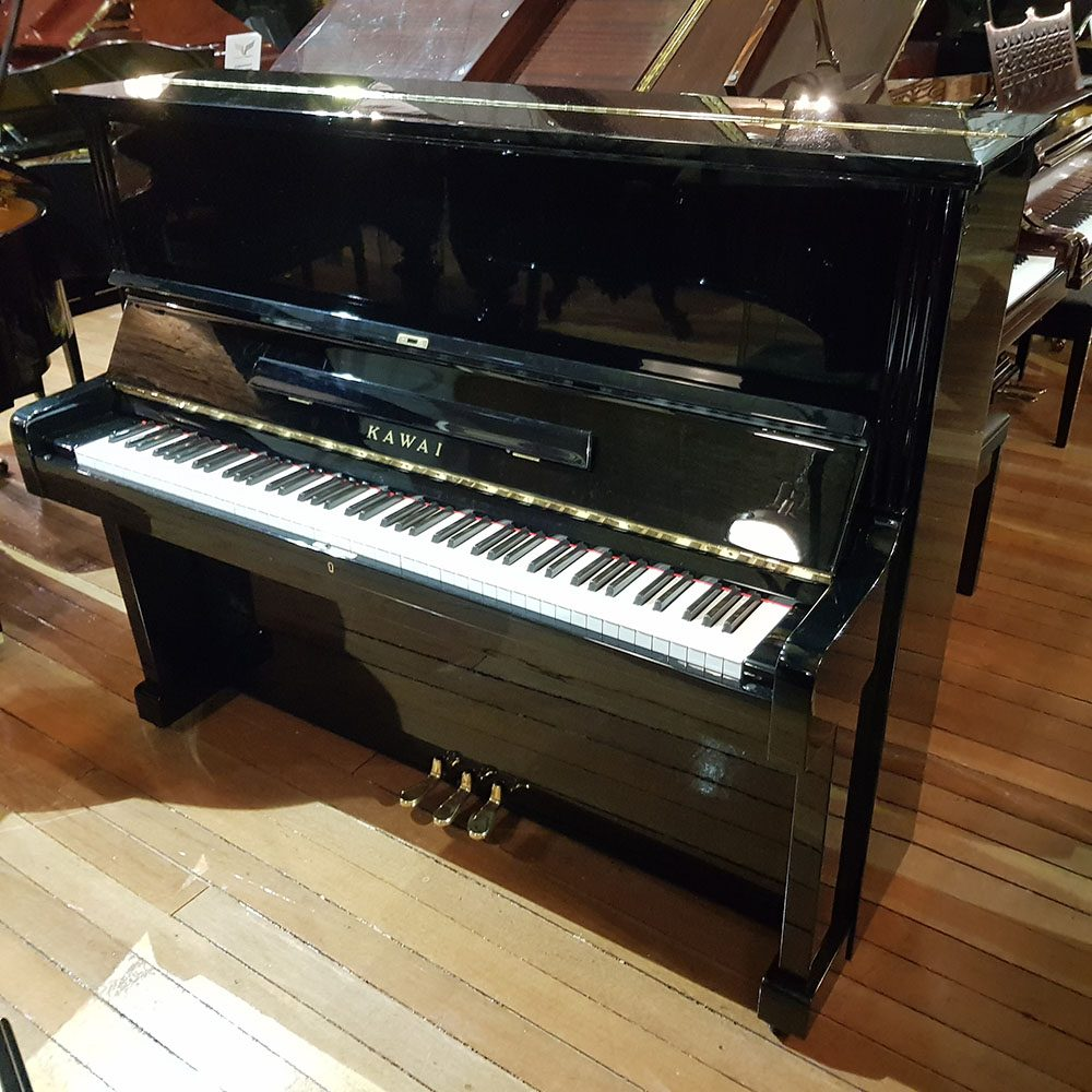 Used Kawai BL-51 Special upright piano for sale, in a black case.